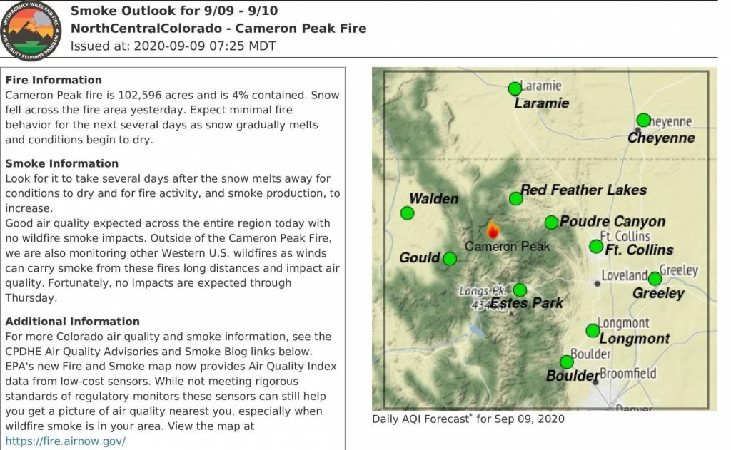 Snow Stalls Colorado Wildfire, But Growth Expected Again