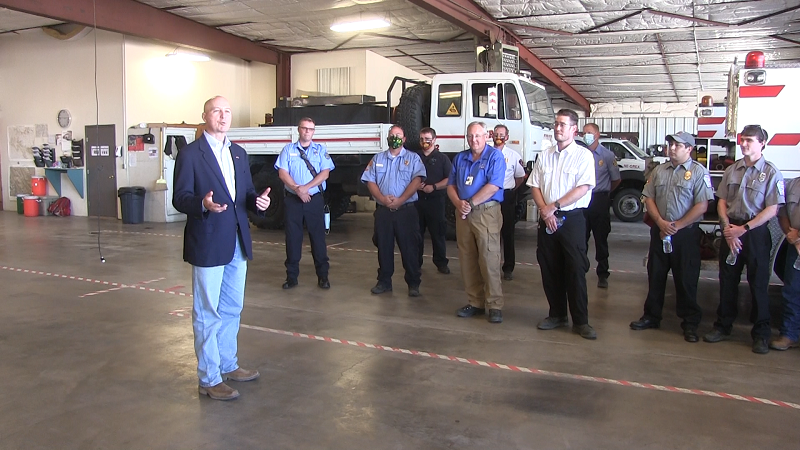 Ricketts Makes Personal Appearance to Thank Hubbard Gap Firefighters