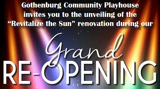 "(AUDIO) Gothenburg Community Playhouse to Unveil ""Revitalize the Sun"" Finished Product"