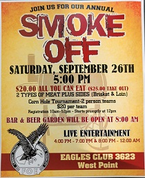 (AUDIO) West Point Eagles Club Smoke Off set for Saturday