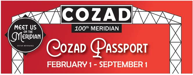 "Cozad Chamber of Commerce Announces Winners of the ""Meet Us on the Meridian"" Passport."