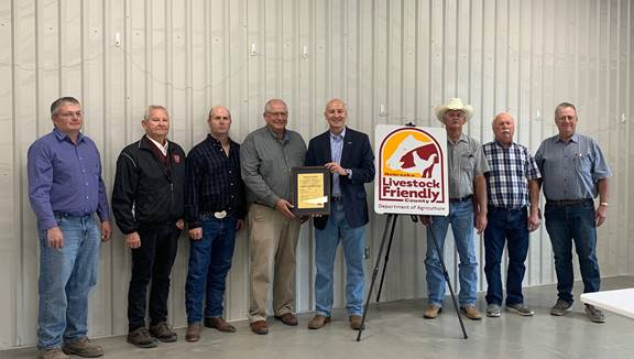 Nance County becomes 50th Livestock Friendly County