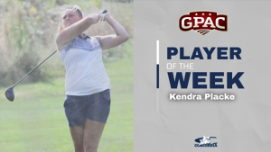 Placke earns GPAC award following tournament title