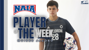 Jacobo upgraded to NAIA National Player of Week