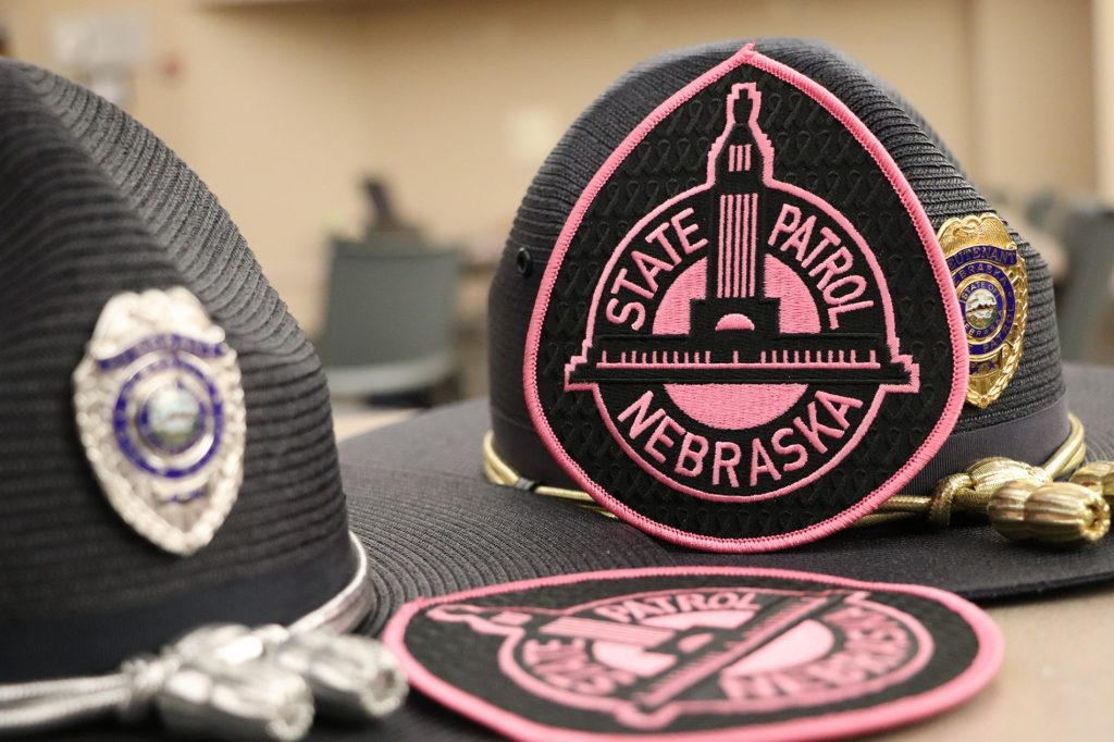 Nebraska State Troopers Don Pink Patches for October