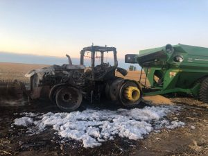 Farmer speaks out following harvest equipment fire in Clay County