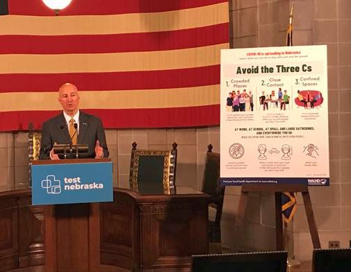 "Gov. Ricketts Announces Changes to Directed Health Measures, Encourages Nebraskans to Avoid the ""Three C's"""