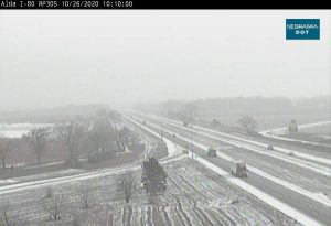 I-80 in both directions: Roadway is partially covered with ice