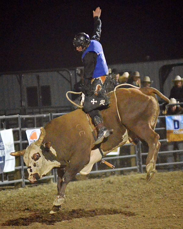 MPCC bull rider ranks first in the nation