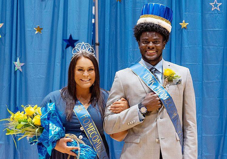 Gabriel Amegatcher, Fayth Jackson named UNK homecoming king and queen