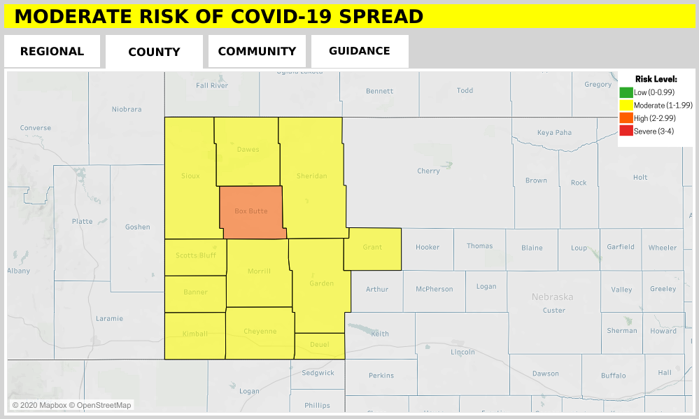 Box Butte Co., Alliance Move into Higher COVID Spread Risk Category
