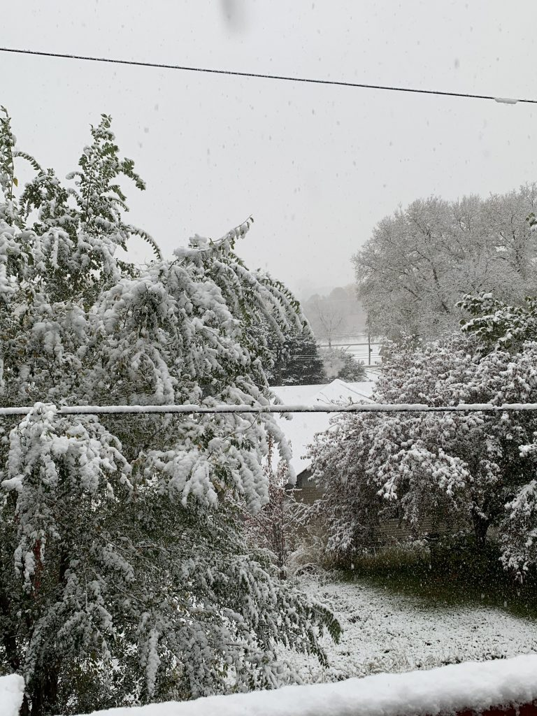 Mid-October Snowfall in Northeast Nebraska
