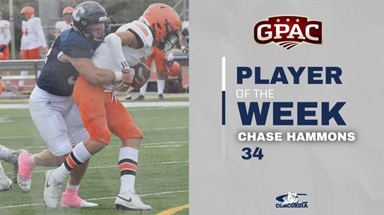 Hammons tabbed GPAC Defensive Player of the Week