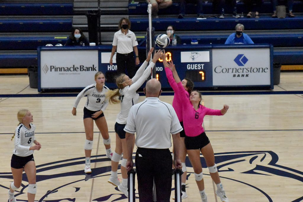 Broncos dominate Cougars in volleyball action