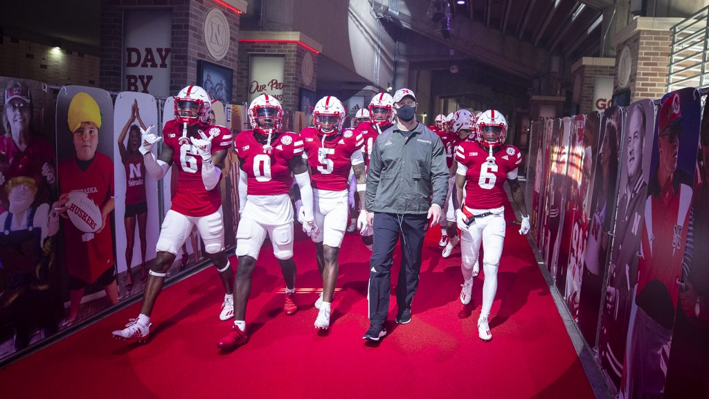 VIDEO: Frost, Nebraska players react to first victory of 2020 season