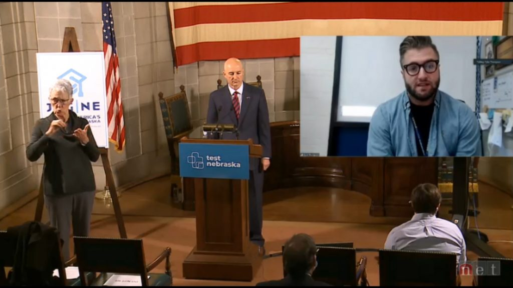 Gering Teacher Shares COVID Experience During Governor's News Conference