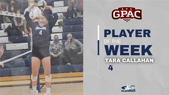 Callahan named GPAC Setter of the Week