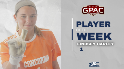 Carley honored by GPAC after shutout of Briar Cliff