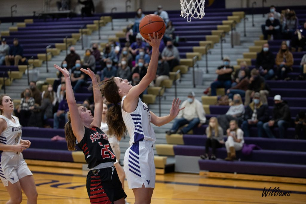 (AUDIO) – Lady Dusters Dominate Sandy Creek with Stout Defense