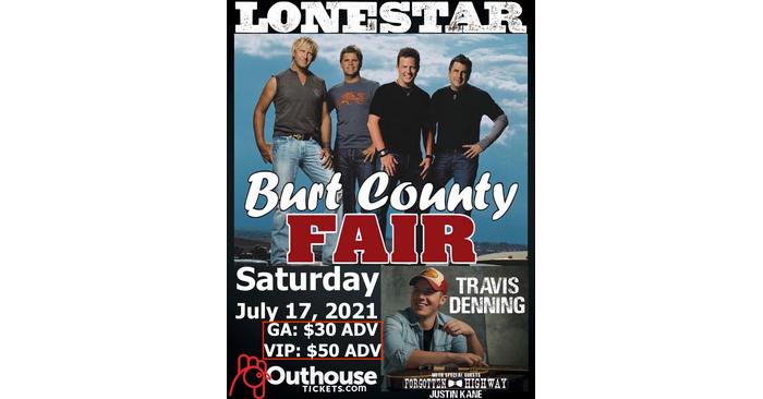 2021 Burt County Fair Entertainment announced