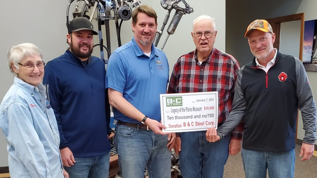 B & C Steel Donates $10,000 to Legacy of the Plains Museum