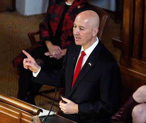 Gov. Ricketts gives State of the State & budget address, pitches property tax ballot measure