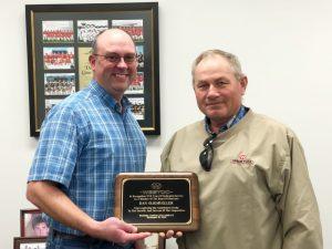 Oligmueller recognized for service to WESTCO Board