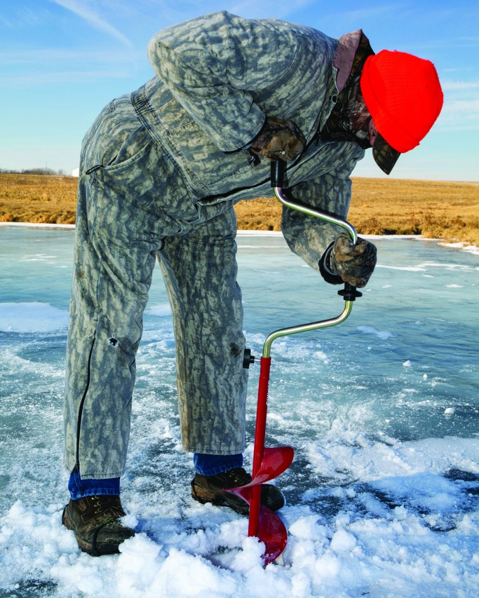 Cutting Through Options of Making Holes for Ice-Fishing