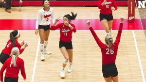 Husker Volleyball sweeps Hoosiers in Season Opener
