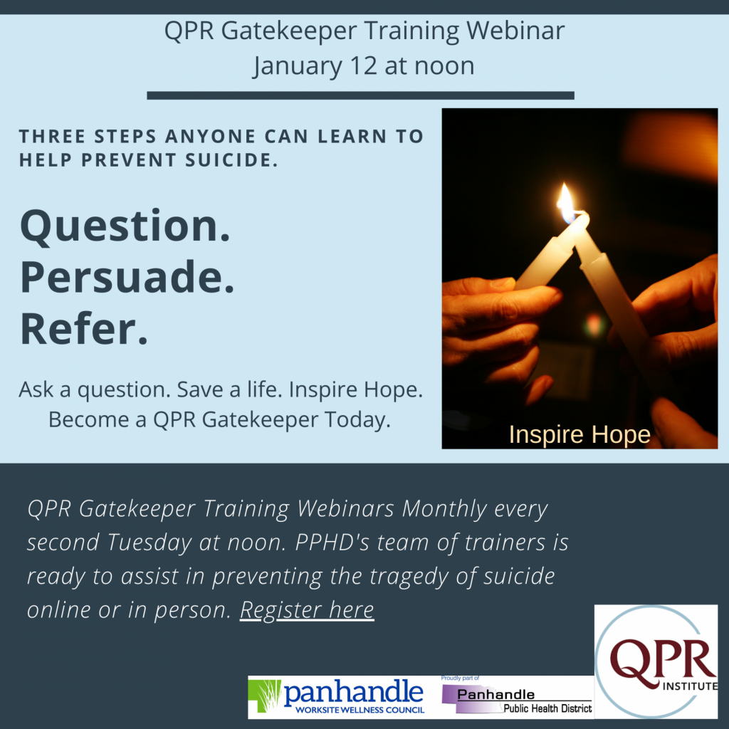 QPR Training Available to Help Prevent Suicide