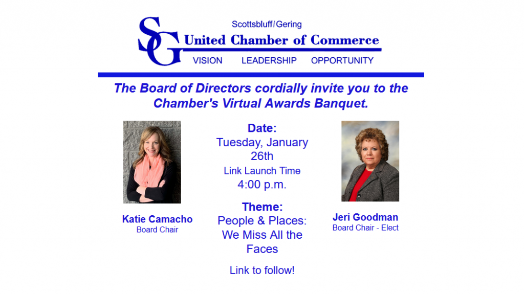 Scottsbluff-Gering Chamber Annual Awards Banquet Going Virtual Today