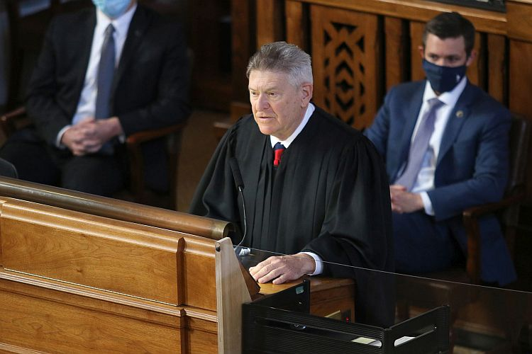 Heavican updates senators on judiciary