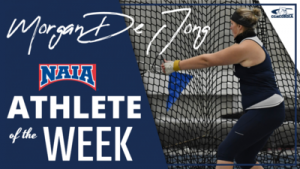 De Jong honored with NAIA national award