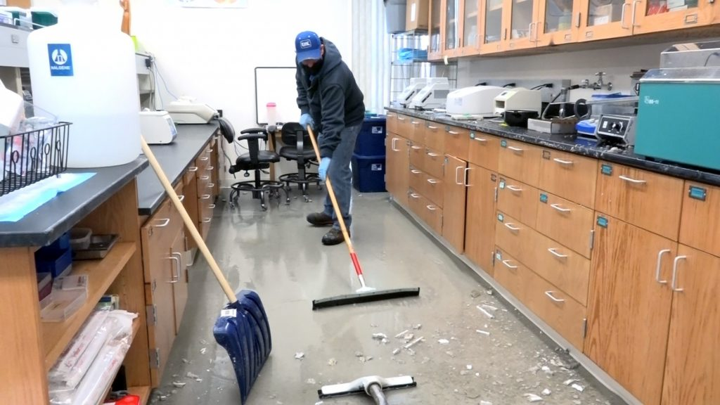Cleanup, Restoration Moving Quickly at UNK's Bruner Hall