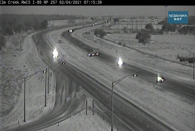 Eastbound I-80 near Elm Creek reopened