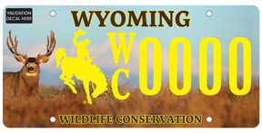 Wyoming Conservation License Plates Sales Reach Milestone