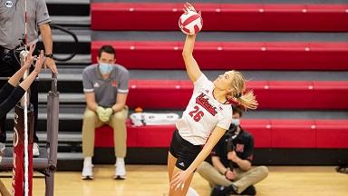 Husker Volleyball beats Rutgers