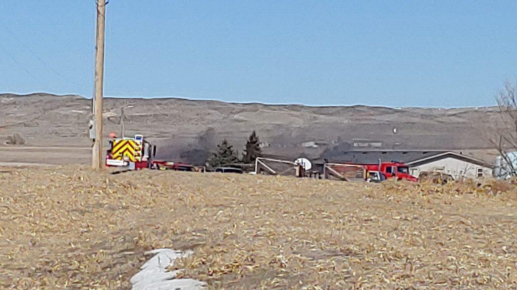 Fire Crews Battle Midday Blaze on Lake Minatare Road
