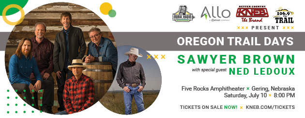 Sawyer Brown, Ned LeDoux to Perform at 2021 Oregon Trail Days Concert