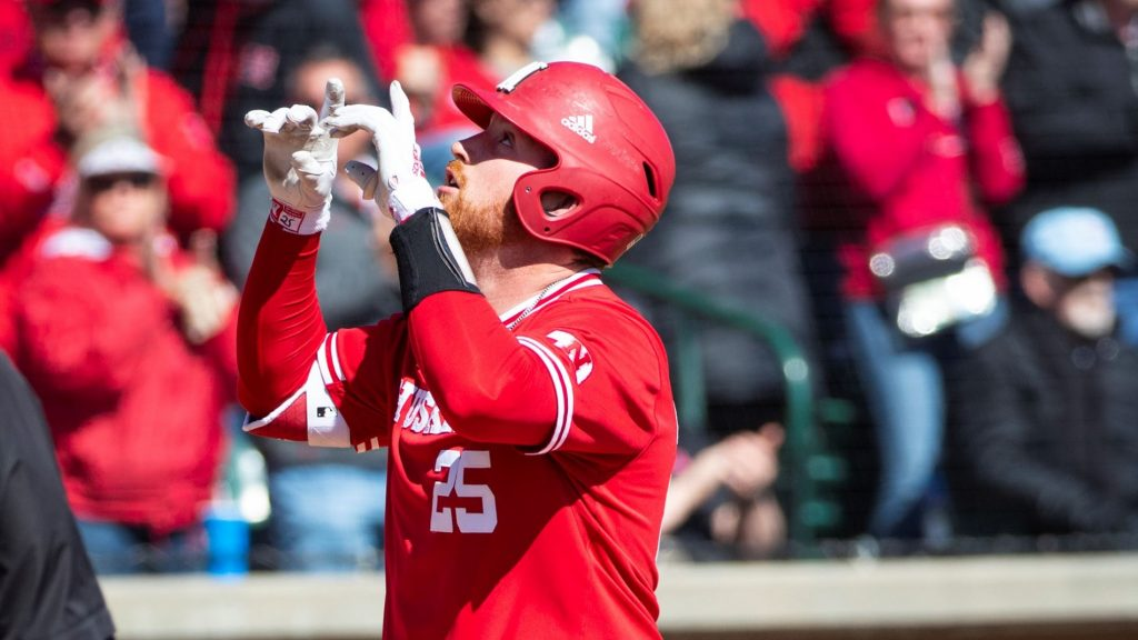 Roskam Hits Two Home Runs, Huskers Sweep Doubleheader