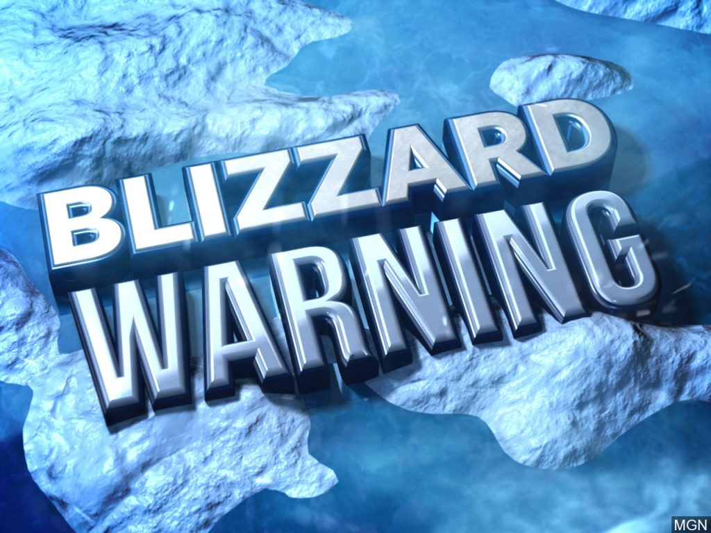 Blizzard Warning until 6 am Monday morning