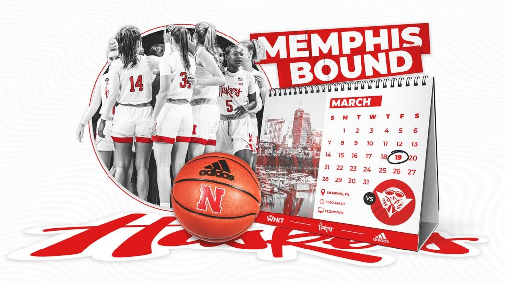 Huskers Open WNIT with UT Martin in Memphis on Friday