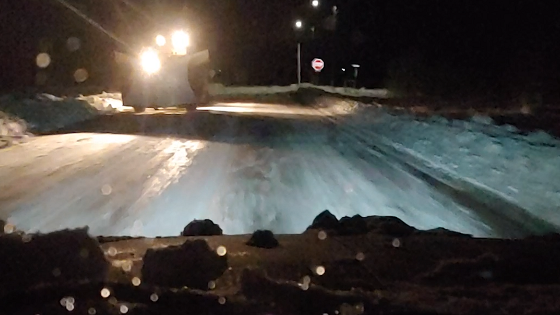 County Roads Crews Hustling to Clear Snow Before Warmer Temperatures