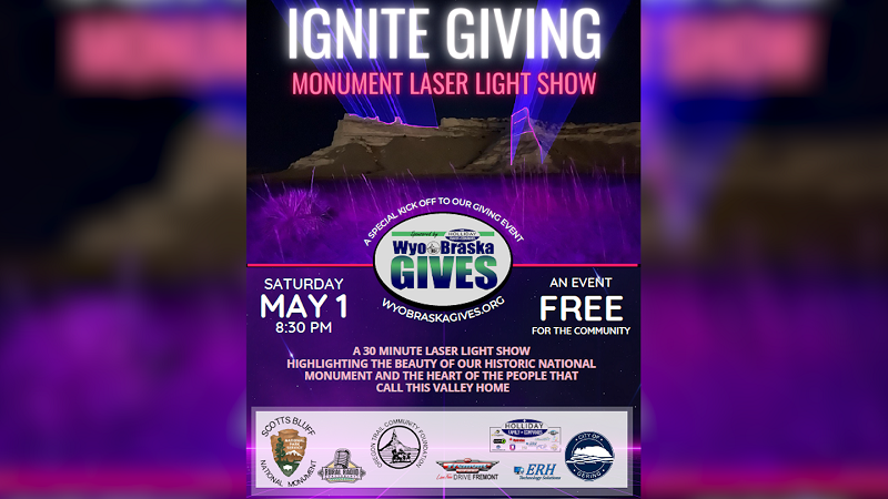 IGNITE GIVING Monument Laser Light Show to Kick Off WyoBraska Gives '21