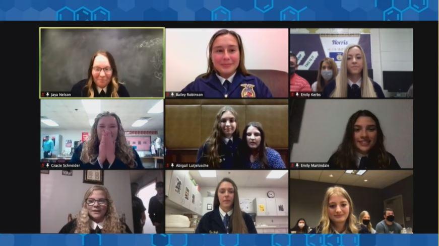 Nebraska FFA selects seven women for 2021-2022 State Officer Team