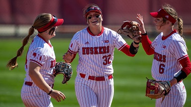 Huskers Run-Rule Terps to Complete Sweep